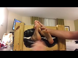 Megan S feet oiled and tickled