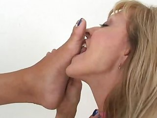 Fetish lesbian foot worship