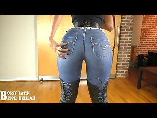 Delilah jeans ass worship