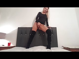 Fuck me boots and dildo