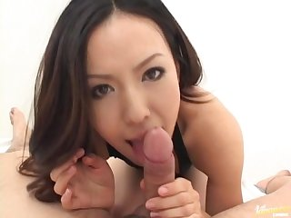 Sexy japanese doll shinobu todaka gets a mouth full of cum
