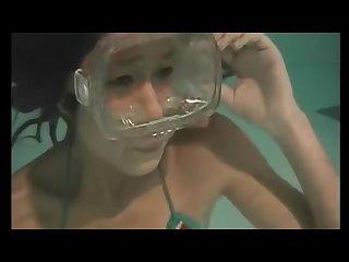Asian girl underwater 7