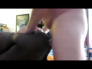 Hot black bottom cums while getting fucked
