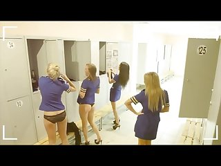 Voyeur perving on super hot stewardesses
