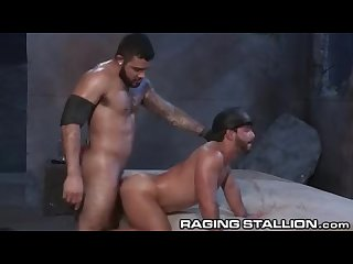 Ragingstallion swole Latino fucks guy in alley