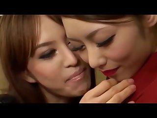 Gorgeous lesbian babes kissing, spitting, tribbing, pussy & boob licking