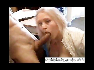 Cute chubby big tits amateur sucks cock