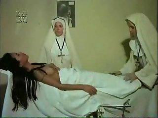 Stern lesbian nuns make girl orgasm