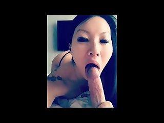 Pregnant asian gives morning head and sucks til cumshot