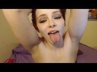 Redhead tongue target zoey