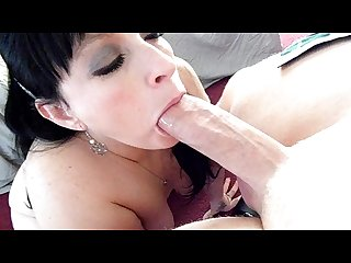 Chick licksballs and gives sloppy blowjob to Psychiatrist until he cums