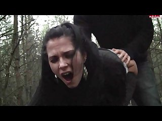 Amateur german party jule fucked hard in forest