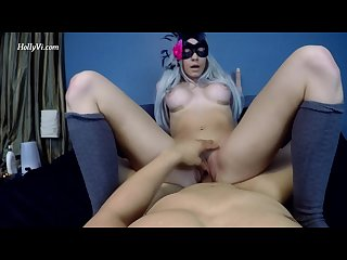 Young hot blonde slut rides you till you cum pov