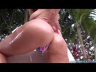 Jodi west poolside masturbation