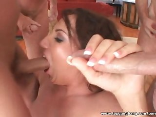 Richelle ryan in amazing blowbang action