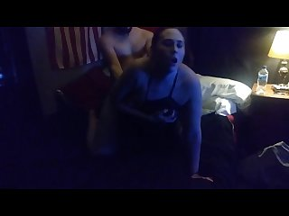 Wife takes big dick for the first time in front of husband