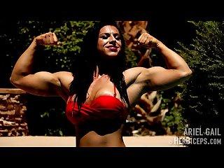 British babe and her muscular body in bikini