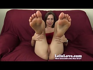 Lelu love feet in your face while you creampie me
