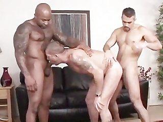 Bodybuilders bareback