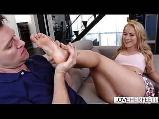 Loveherfeet beautiful blonde with Perfect feet fucks a Fat cock