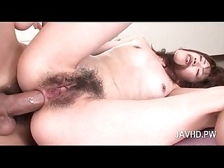Naked asian Girl gets double fucked hardcore in threesome