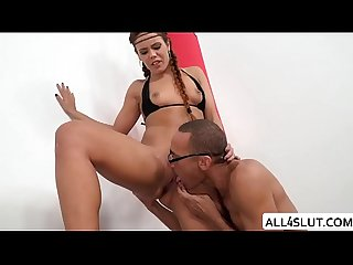 Teen gala gets pounded by a monster cock