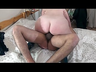 Mature busty slutty lady meets a guy in the hotel room
