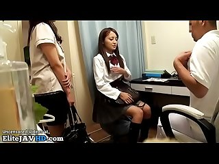 Japanese 18yo schoolgirl massage unexpected end