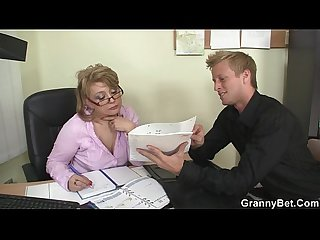 Hot office sex with mature bitch