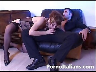 Pompino e Sesso Anale in Porno Italiano - Blowjob Hardcore Anal Sex in Italian