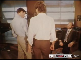 Office threeway from vintage gay porn cruisin
