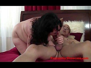 Big boner explores beautiful big boobed bbw