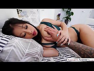 Naughty America - Banging Your Asian Wife Jade Kush and Her Big Natural Tits