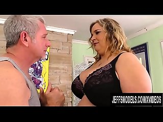 Mega tits mature plumper cami cooper stimulated with massage and vibrator