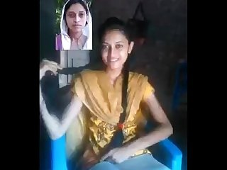 Indian hot college teen girl on video call with lover at bedroom wowmoyback