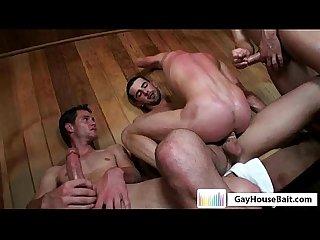 Gayhousebait Sauna Twink orgy