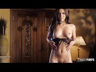 Alina lopez masturbates in lingerie