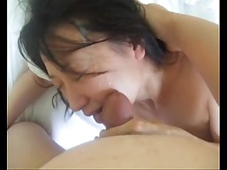 japanese cumslut spit on while fucking eats cum off her 1