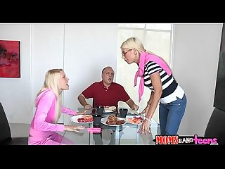 Divine 3some with a hot older moms bang teens scene