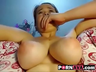 18 yr old cant stop cumming watch Part2 on pornava com