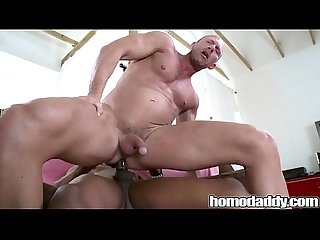 Homodaddy huge cock in ass