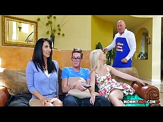 Stepmom joins in on the naughty action isis love aubrey gold