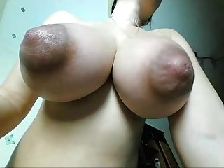 Wife (milf) with huge natural tits recorded live. Visit sexxxcams.eu for..