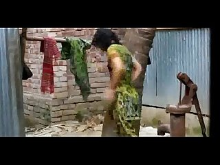 Indian girl changing dress after bath