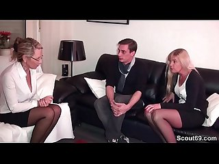 German Mother teach Young Couple to Fuck Good