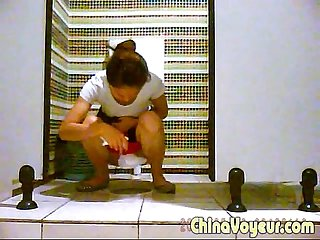 Toilet voyeur pissing changing sniffing pad period