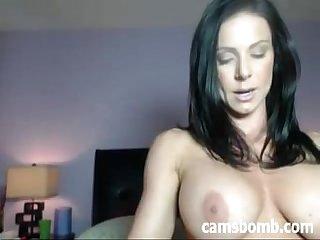 Sexy brunette Camgirl dildo fuck