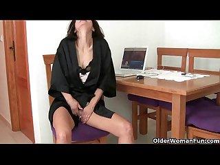 Watching porn ignites grandma S lust