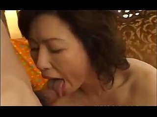 Japanese mature women fuck by young man