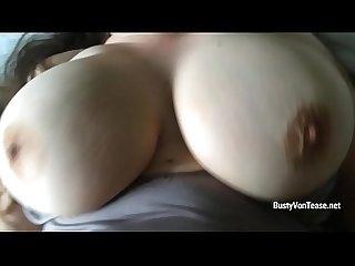 Amateur milf busty von tease gets her big melons bouncing